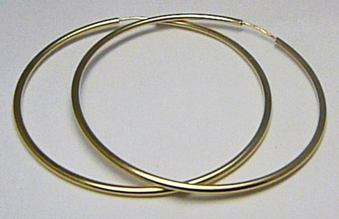 Dámské obrovské velké zlaté kruhy 50mm 5cm 585 1 0d096e08ac4