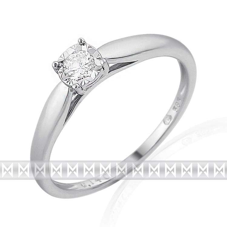 Zásnubní diamantový prsten zdobený diamanty v bílém zlatě RHODA 3862170 037e85a05e7