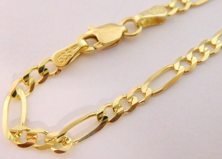 4be15cb7b Pánský mohutný plný zlatý náramek FIGARO 23cm šíře 3mm 585/300gr 3640123