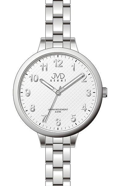 Čitelné dámské stříbrné hodinky JVD steel J4113.2  1a6e81bdea