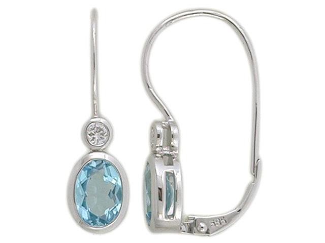 edd149a3b Luxusní diamantové zlaté náušnice s diamanty a modrými topazy (blue topaz)