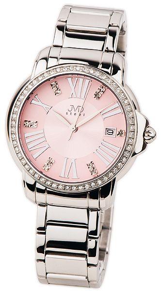 Dámské ocelové náramkové hodinky JVD steel W33.3 poseté křišťály b53e67c04f7