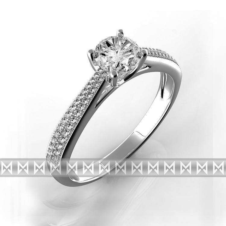 Luxusní diamantový zásnubní prsten bílé zlato briliant vel. 52 769e821d20c