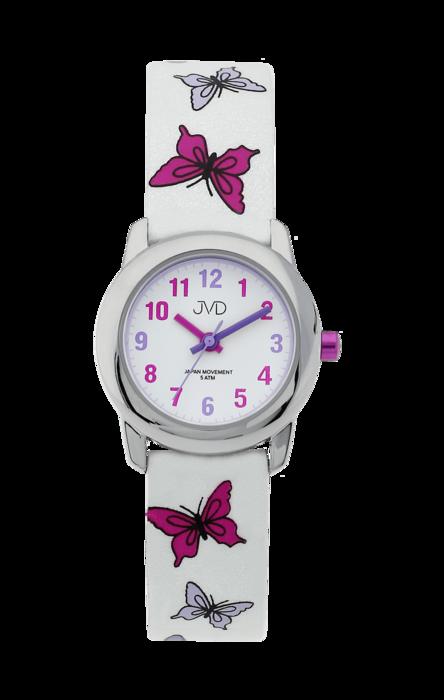 Dívčí dětské růžové hodinky JVD basic J7142.1 s motivem motýlka ... 02c1b7cfab4