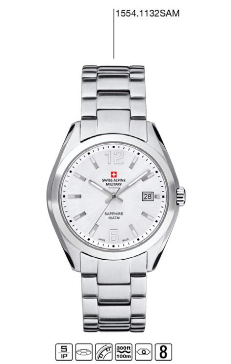 2f65ba4b5af Luxusní pánské vodotěsné hodinky Swiss Alpine Millitary Grovana 1554.1132  SAM POŠTOVNÉ ZDARMA!