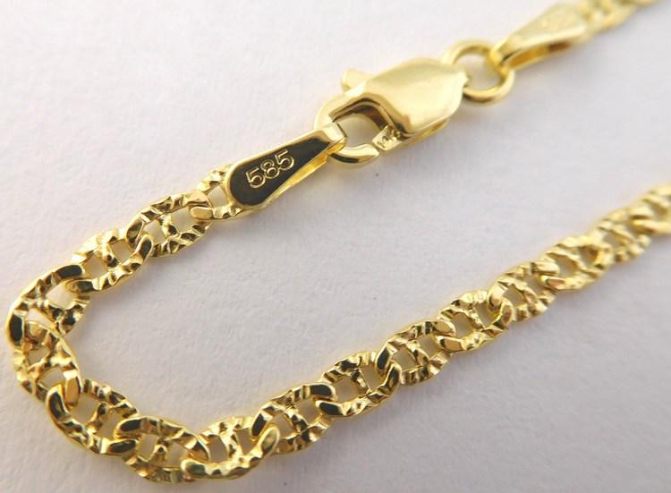 02c31d005 Dámský mohutný zlatý náramek (řetěz) s gravírováním 18cm 585/1,30gr 3640082