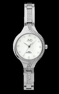 854fc36a1d8 Dámské luxusní designové ocelové hodinky JVD JC052.4 se zirkony