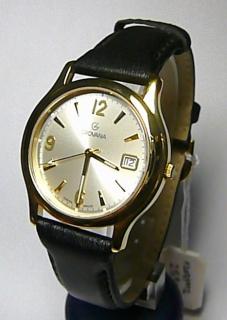 Luxusní švýcarské pánské ocelové hodinky Grovana 1207.1 na kůži safírové  sklo 362192aa02