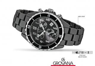 af69cd863 Švýcarské keramické hodinky Grovana 4001.9187 - chronograf 5ATM POŠTOVNÉ  ZDARMA!