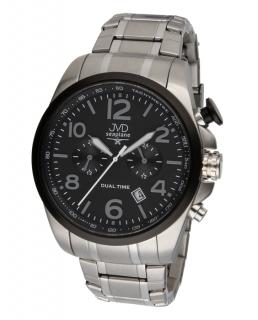 Pánské ocelové vodotěsné hodinky JVD W88.1 Seaplane Dual Time dva světové  ĝasy POŠTOVNÉ ZDARMA 6830910449c